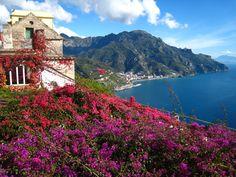 View along Amalfi Coast - Italy