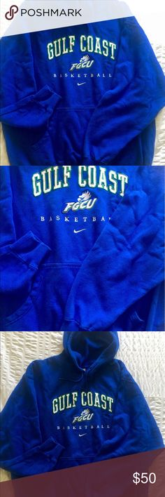 Florida Gulf Coast University Eagles Hoodie Authentic 2013 Dunk City  FGCU Eagles Basketball, worn to sweet 16 March madness 2013! Hooded Sweatshirt Men's Size XXL College Basketball Jackets & Coats Bomber & Varsity
