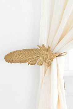 Magical Thinking Feather Curtain Tie-Back for Living Room with pink curtains Dumbo Nursery, Girl Nursery, Nursery Decor, Nursery Ideas, Aztec Nursery, Nursery Office, Nursery Curtains, Bedroom Decor, Curtain Holder