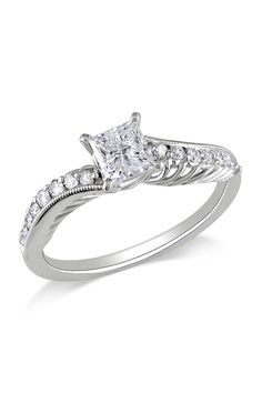 3/4 ct Diamond Engagement Ring in 18k White Gold - has potential (but prolly too expensive)