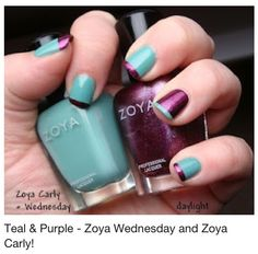 Teal n purple