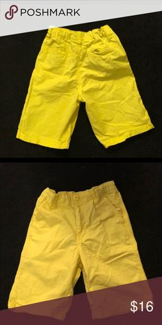 Baby Boys Summer Shorts Bundle White Yellow Striped Checked 1 1/2-2 Years Boys' Clothing (newborn-5t)