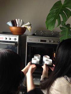 自宅で 桃カステラ作り! Lai Lai ~来来~