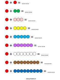 Kralenstaafjes werkblad kleur vb