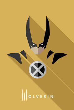 Behance :: Comic & Movie Flat Design Heros & Villain by Moritz Adam Schmitt
