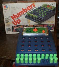 numbers up board game | Vintage Numbers Up 1975 Milton Bradley Game | eBay MY MOST FAVORITE ...