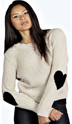 boohoo Wendy Heart Elbow Patch Jumper - stone azz17773 Go back to nature with your knits this season and add animal motifs to your must-haves. When youre not wrapping up in woodland warmers, nod to chunky Nordic knits and polo neck jumpers in peppered mar http://www.comparestoreprices.co.uk/womens-clothes/boohoo-wendy-heart-elbow-patch-jumper--stone-azz17773.asp