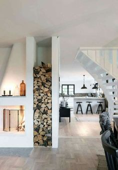 Fireplace storage