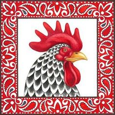 Diamond Mosaic Chicken Diy Diamond Embroidery princess S Rooster Painting, Rooster Art, Chicken Painting, Chicken Art, Chicken Quilt, Cartoon Chicken, Chickens And Roosters, Artist Trading Cards, Bird Feathers