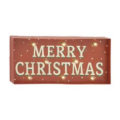 woodland imports pre lit merry christmas sign with constant white led lights
