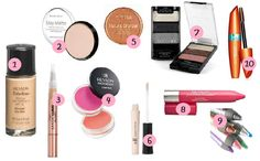 Top 10 Drugstore Products // Makeup Starter Kit