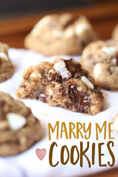 "I have seen these cookies around the internet for years. I've always wanted to make them, but for some reason just have never gotten around to it! I mean, with a name like ""Marry Me Cookies"" you figure..."