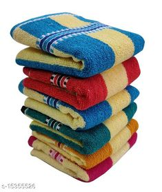 Hand & Face Towels Hand Towels Combo Pack of 6 - Cotton - Size 33x51 CM - Mix Colours - Yellow Striped Material: Cotton Print or Pattern Type: Striped Multipack: 6 Sizes:  Free Size (Length Size: 21 in, Width Size: 14 in)  Country of Origin: India Sizes Available: Free Size   Catalog Rating: ★4.1 (1371)  Catalog Name: Ravishing Alluring Hand Towels CatalogID_3062862 C71-SC1113 Code: 772-15355526-525
