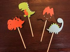 Toppers de cupcake dinosaurio, conjunto de 12 o 24