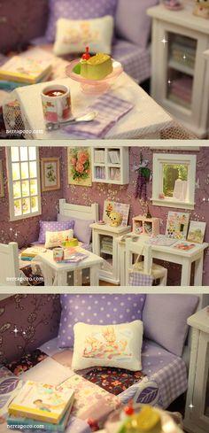 Diorama 034 Lavender Dreams 034 OOAK by Nerea Pozo Keera | eBay