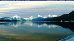 Lake McDonald 1-21-2013 webcam  Glacier Park Lake Mcdonald, Glacier Park, Montana, Homes, Nature, Travel, Flathead Lake Montana, Houses, Naturaleza