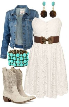 Country dresses in cotton Country Girl Outfits, Country Wear, Country Girl Style, Country Fashion, Cowgirl Outfits, Cowgirl Style, Western Outfits, My Style, Cowgirl Clothing