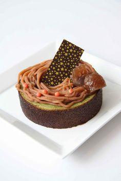Chestnut on Green Tea baumkuchen