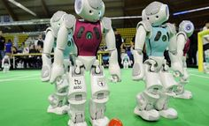 """RoboCup 2014 begins July 21st in Brazil!   The RoboCup was founded in 1997 with the main goal of """"developing by 2050 a robot soccer team capable of winning against the human team champion of the FIFA World Cup."""" – Miss Metaverse"""