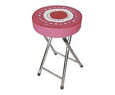 Taburete plegable en aluminio y plástico Soles - rosa