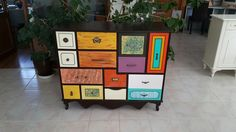 El boyaması şifonyer / hand painting dresser