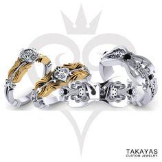 Kingdom Hearts Inspired Wedding Rings — Takayas Custom Jewelry