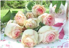 Fresh flowers, especially those in pastel hues with big blooms are perfect for a vintage themed high tea party