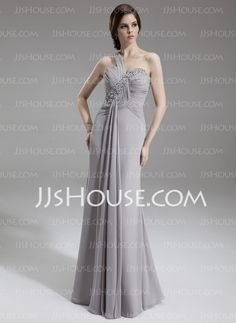 Mother of the Bride Dresses - $156.99 - A-Line/Princess One-Shoulder Floor-Length Chiffon Mother of the Bride Dresses With Ruffle  Beadwork (008005938) http://jjshouse.com/A-Line-Princess-One-Shoulder-Floor-Length-Chiffon-Mother-Of-The-Bride-Dresses-With-Ruffle-Beadwork-008005938-g5938