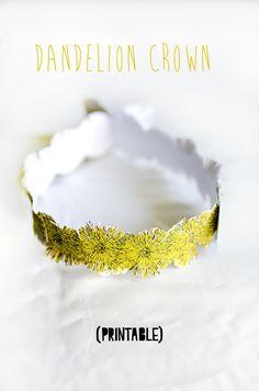 Printable Dandelion Crown