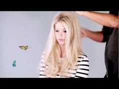 ▶ Get Bardot hair with Sam McKnight - YouTube: don't bother with the rollers, but tip: blow dry bangs forward