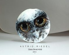 """One of the most beautiful beads I have ever seen!!!! by Astrid Riedel Glass Artist: Enamel """"Painted"""" bead."""