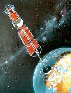 TV-Satellit aus Bild der Wissenschaft 4, 1968