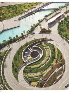Landscape design is an independent profession and a design and art tradition, practised by landscape designers, combining birds and culture. In contemporary practice, landscape design bridges the declare amongst landscape architecture and garden design. Park Landscape, Landscape Plans, Urban Landscape, Landscape Steps, Landscape Edging, Contemporary Landscape, Abstract Landscape, Architecture Design Concept, Garden Architecture
