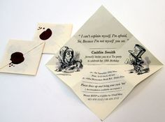 Alice in Wonderland - Party Invite by Holly Smith- AWESOME!!!