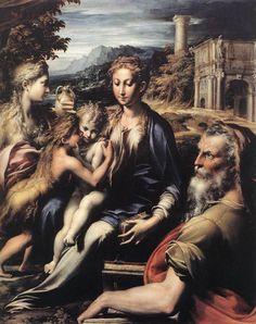 Η Παναγία το Θείο  βρέφος και Άγιοι (1530)