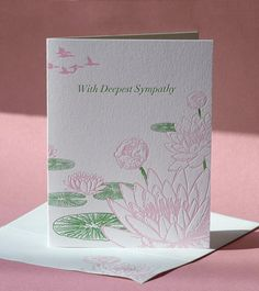 Lotus Flower Sympathy Card