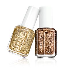 essie gold glitter, holidays. Luxeffects summit of style (on the right) - I own this
