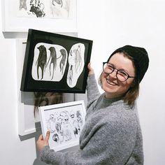 """Mari Ahokoivu Oksi-sarjakuvaromaaninsa näyttelyssä: """"Urani vaativin työ""""  Artikkeli sarjakuvakeskuksen blogissa Novels, Polaroid Film, Fantasy, Fiction, Romans"""