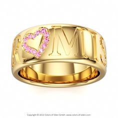 PROMISE Ring with pink sapphire #love #ring.. this is beautifull.. i think i ll just buy myslf one... lol