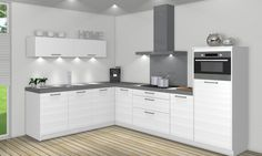 Eigentijdse hoekkeuken Modern Design, Interior Decorating, Sweet Home, Kitchen Cabinets, Home And Garden, House Design, Furniture, Modern Kitchens, Marcel