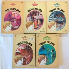 Trixie Belden Mysteries - Lot of 5 Books: 7 - 8 - 9 - 10 - 20 (Paperback, 1977)