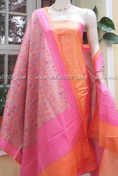 Silk Kurti, Silk Dupatta, Dress Indian Style, Indian Wear, Indigo Saree, Kurta Patterns, Churidar Designs, Indian Designer Suits, Kurti Designs Party Wear