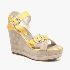 {Wedge Sandals In Yellow} Blackstone