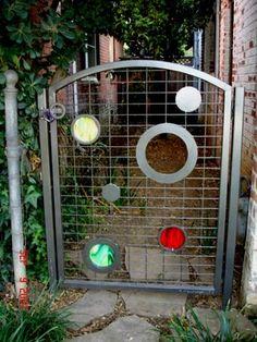 Fun, colorful circle design. Metal by Phil: Sampling of Artistic Gates & Doors