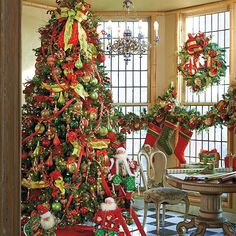 Christmas tree decorations from frontgate