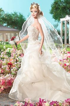 2006: David's Bridal Romance Barbie  The last of David's Bridal's wedding-day Barbies, this gown was inspired by one of the most popular styles that year. Wedding Barbies - Vintage Barbies | Wedding Planning, Ideas  Etiquette | Bridal Guide Magazine