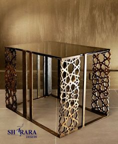 golden table with special finishing by Sharara Design