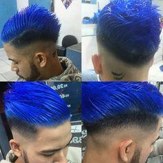 #Blue sem filtro !!! #cabeloblue #cabeloazul #cabelodesenho #cortes…