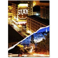 Trademark Fine Art One night in San Francisco Canvas Art by Philippe Hugonnard, Size: 24 x 32, Multicolor