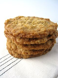 These are the perfect oatmeal cookies. They might even be the perfect cookie. Although it may not be a popular opinion, I like my cookies crispy. These are thin, crispy and buttery and their caramel-like sweetness is accentuated by a…